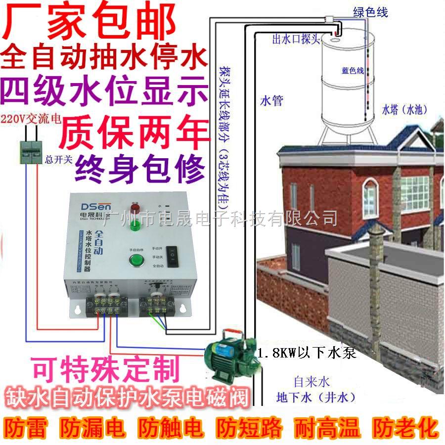 新上线全自动水位控制器/液位控制器含五个不锈钢探头