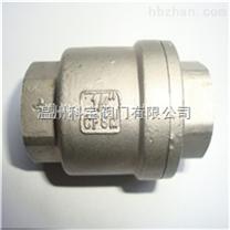 3寸/DN80 1000WOG CF8M H12W立式内螺纹止回阀