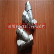 DN25/1寸 CF8/CF8M Y型内螺纹弹簧止回阀