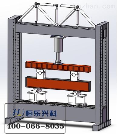 电液伺服拟动力加载系统,自平衡综合钢结构反力架,电液伺服水平加载