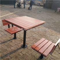 沧州公园椅 公园长椅 实木户外座凳 小区组合桌椅