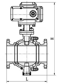 rq947f-电动固定式球阀图片