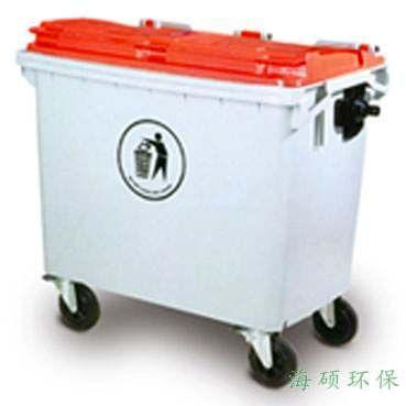 660l 山东海硕660l塑料四轮可移动垃圾箱环卫垃圾桶
