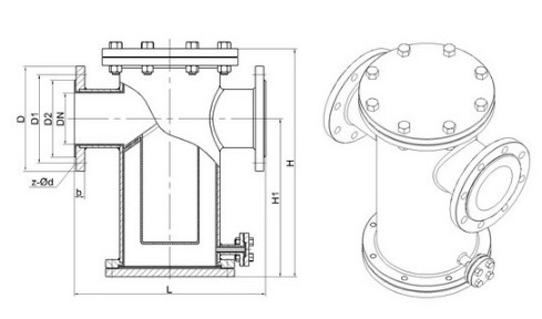 衬氟篮式过滤器结构原理