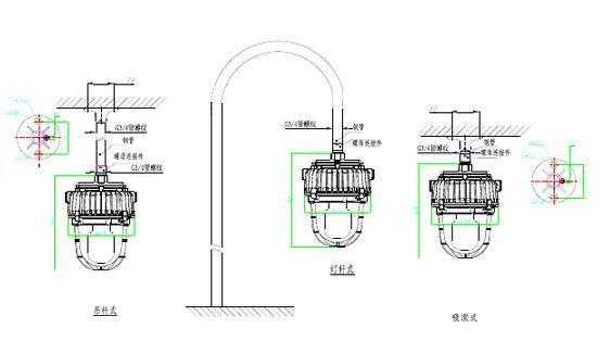 防爆平台灯接线方法