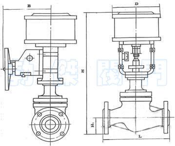 活塞式气动调节阀结构原理图