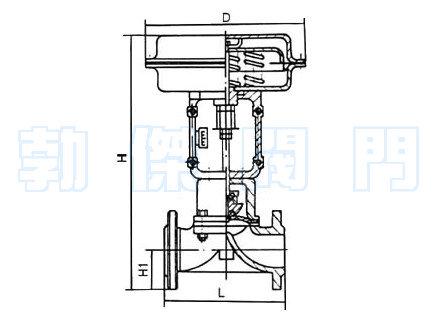 气动隔膜调节阀结构原理图图片