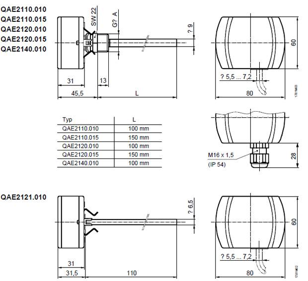 西门子温度传感器qae系列插入式传感器/原装正品  配件:无 探头:100