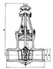 伞齿轮焊接闸阀