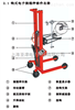 手动油桶搬运秤1.5米堆高电子秤上海300公斤手动油桶秤